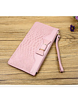 Women Bags Cowhide Wallet Zipper for Casual All Seasons Black Blushing Pink Purple