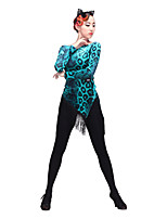 Latin Dance Tops Women's Performance Chinlon Flannel Long Sleeve Tops