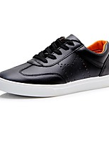 Men's Shoes TPU Fall Winter Comfort Sneakers Lace-up For Casual Outdoor Black White
