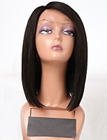 Women Synthetic Wig Lace Front Short Black Side Part Bob Haircut Natural Wigs Costume Wig