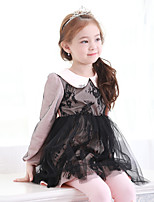 Girl's Birthday Casual/Daily Holiday Going out Solid Dress,Cotton Spring Fall Long Sleeve
