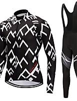 Camisa com Calça Bretelle Unisexo Manga Longa Moto Conjuntos de Roupas Secagem Rápida Inspecções Moderno Inverno Ciclismo/Moto Branco