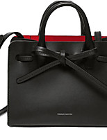 Women Bags All Seasons Cowhide Tote Pockets for Camel Red Black
