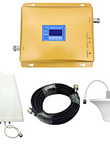 Mobile Phone Signal Booster CDMA 850mhz 800mhz DCS 4G 1800mhz Signal Repeater with Ceiling Antenna / Log Periodic Antenna / Golden / LCD Disaplay