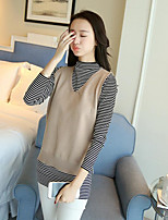 Women's Holiday Simple Fall Tank Top Skirt Suits,Solid Turtleneck Long Sleeve Stretchy