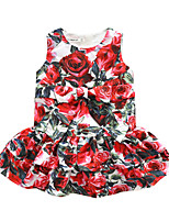 Girl's Birthday Casual/Daily Holiday Going out Floral Dress,Polyester Fall Sleeveless