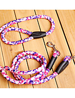 Dog Leash Portable Geometric Nylon Fuchsia Red Green Blue Camouflage Color