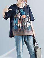 T-shirt Da donna Casual Attivo Con stampe Rotonda Cotone Mezza manica
