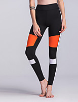 Women's Medium Stitching Print Legging,Color Block