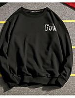 Sweatshirt Homme Sortie Imprimé Col Arrondi Micro-élastique Autres Manches longues Printemps Automne