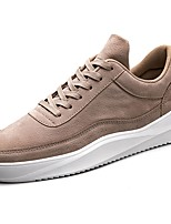 Men's Shoes Rubber Fall Comfort Sneakers Lace-up For Outdoor Khaki Almond Gray Black