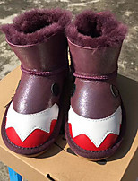 Girls' Shoes Fur Fall Winter Fluff Lining Snow Boots Boots For Casual Khaki Blushing Pink Purple Gray