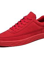 Herren Schuhe Wildleder Frühling Herbst Komfort Sneakers Walking Schnürsenkel Für Normal Schwarz Grau Rot Khaki