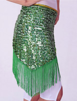 Belly Dance Hip Scarves Women's Performance Polyester Sequin Tassel Hip Scarf