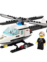 Building Blocks Helicopter Toys Helicopter Police Military Kids Boys Boys' 102 Pieces