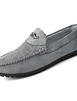 Men's Shoes PU Fall Winter Moccasin Comfort Loafers & Slip-Ons For Casual Green Gray Black