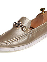 Men's Shoes Nappa Leather Fall Winter Moccasin Loafers & Slip-Ons For Casual Party & Evening Blue Black White Gold