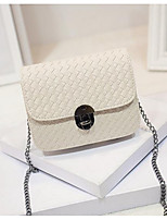 Women Bags All Seasons PU Shoulder Bag Zipper for Casual White Black Silver