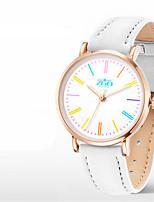 Жен. Модные часы Кварцевый PU Группа Белый Синий Розовый