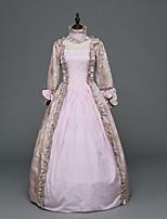 Vittoriano Rococò Donna Per adulto Vestito da Serata Elegante Stile Carnevale di Venezia Rosa Cosplay Satin elasticizzato Manica lunga