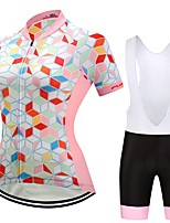 Cycling Jersey with Bib Shorts Women's Short Sleeves Bike Clothing Suits Anatomic Design Geometric Floral / Botanical Autumn/Fall Summer