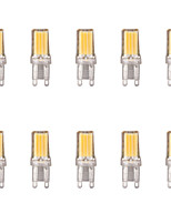 10pcs 2W G9 LED Bi-pin Lights 1 leds COB Warm White Cold White 1lm 6500/3500K AC 220-240V