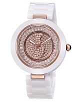 Mulheres Relógio Elegante Relógio de Moda Relógio de Pulso Quartzo Cerâmica Banda