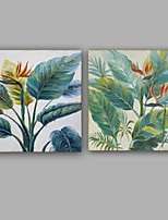 Hand-Painted Floral/Botanical Square,Stylish Rustic/Lodge Contemporary Classy Classic Vintage Rustic Party Work Creative Casual Lovers