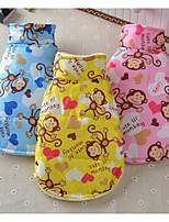 Chien Gilet Vêtements pour Chien Respirable Décontracté / Quotidien Dessin-Animé Jaune Bleu Rose Costume Pour les animaux domestiques