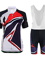 Cycling Jersey with Bib Shorts Men's Unisex Short Sleeves Bike Sweatshirt Jersey Padded Shorts/Chamois Clothing Suits Lightweight
