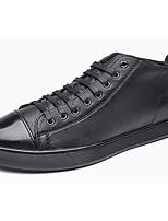 Для мужчин обувь Полиуретан Весна Осень Удобная обувь Кеды Назначение Повседневные Белый Черный