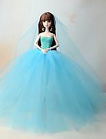 Robes Robes Pour Poupée Barbie Bleu Océan Robes Pour Fille de Jouets DIY