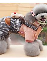 Chien Combinaison-pantalon Vêtements pour Chien Noël Noël Renne Vert Rose Costume Pour les animaux domestiques