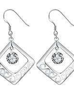 Women's Drop Earrings Rhinestone Fashion Vintage Silver Rhinestone Square Jewelry For Wedding Party