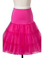 Wedding Halloween Carnival Bridal Shower Party/Cocktail Slips Organza Knee-Length Skirts With