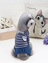 Chien Sweatshirt Vêtements pour Chien Vestes amincissantes Rayure Gris Rouge Costume Pour les animaux domestiques
