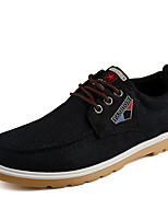 Men's Shoes Canvas Summer Fall Driving Shoes Sneakers Applique For Casual Outdoor Blue Black