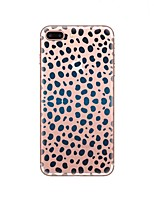 economico -Custodia Per Apple iPhone X iPhone 8 Transparente Fantasia/disegno Per retro Leopardato Morbido TPU per iPhone X iPhone 8 Plus iPhone 8