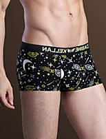 Men's Print Galaxy Boxers Underwear,Nylon