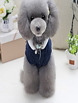 Dog Coat Sweater Dog Clothes Casual/Daily Letter & Number Green Navy Costume For Pets