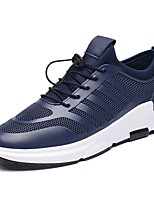 Men's Shoes PU Spring Fall Comfort Sneakers Lace-up For Outdoor Gray Dark Blue Black