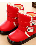 Girls' Shoes PU Winter Snow Boots Boots Booties/Ankle Boots For Casual White Black Red