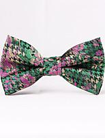 Men's Rayon Cotton Blend Bow Tie,Pattern Jacquard All Seasons