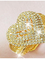 Women's Cuff Bracelet Cubic Zirconia Rhinestone Statement Jewelry Rhinestone Gold Plated Heart Jewelry For Wedding Party