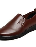 Hombre Zapatos PU microfibra sintético Semicuero PU Verano Otoño Confort Zapatos de taco bajo y Slip-On Para Casual Negro Amarillo Marrón