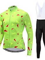 Cycling Jersey with Bib Tights Unisex Long Sleeves Bike Clothing Suits Quick Dry Geometric Graphic Floral / Botanical Autumn/Fall Spring