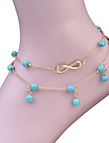 Women's Anklet/Bracelet Turquoise Fashion Vintage Bohemian Circle Jewelry For Gift Casual