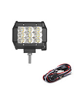 27W 2700LM 6000K 3-Rows LED Work Light Cool White Spot Offroad Driving Light for Car/Boat/Headlight IP68 9-32V  2m 1-To-1 Wiring Harness Kit