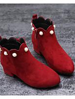 Fille Chaussures PU de microfibre synthétique Automne Hiver Confort Bottes à la Mode Bottes Pour Décontracté Noir Bourgogne