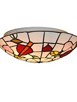 Diameter 30cm Tiffany Ceiling Light Glass Shade Living Room Bedroom Dining Room Flush Mount